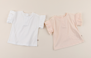 Cocobe Pleats Tee - Milk