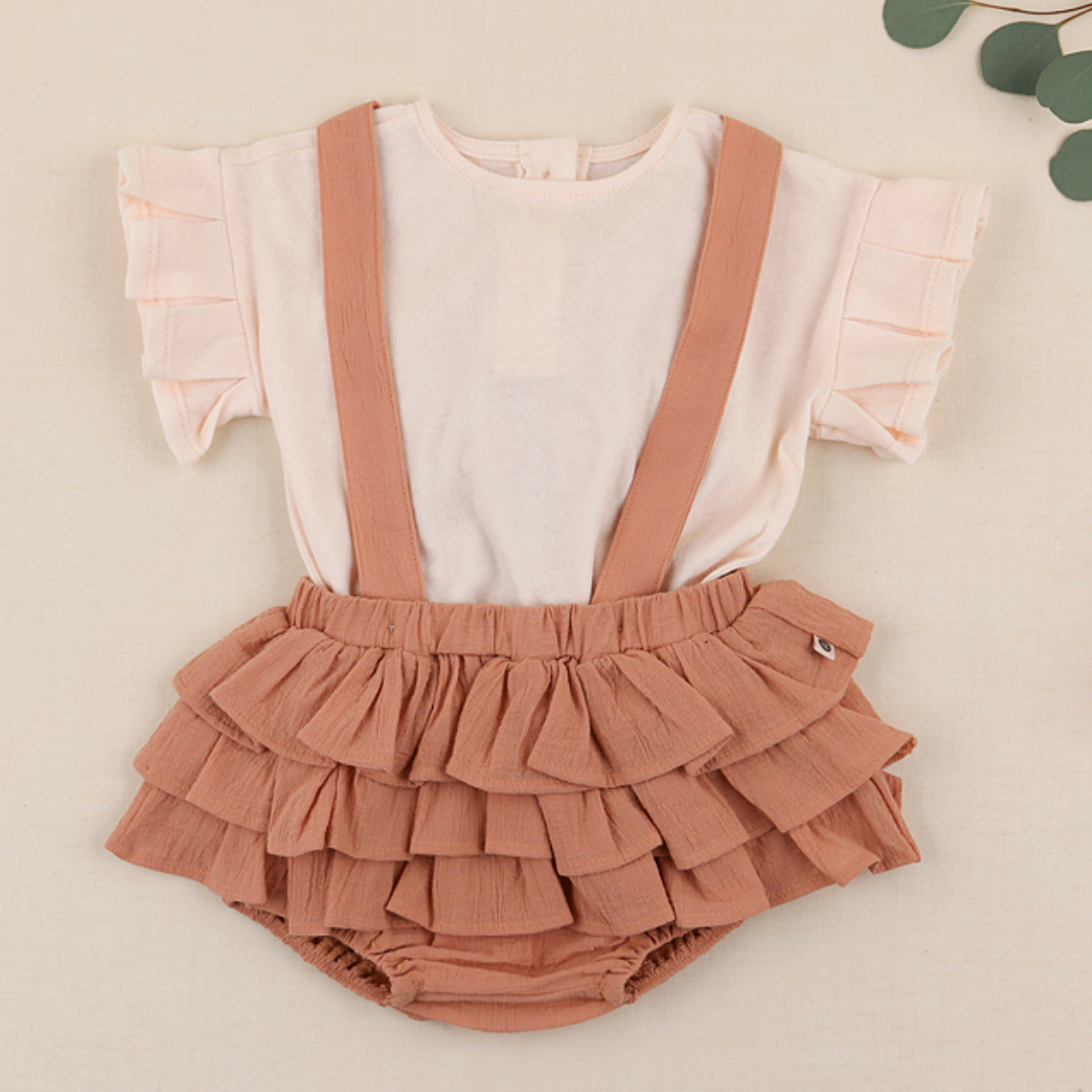 Cocobe Pleats Tee - Peach