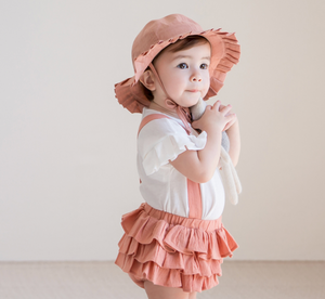Pleats Coral Sunhat