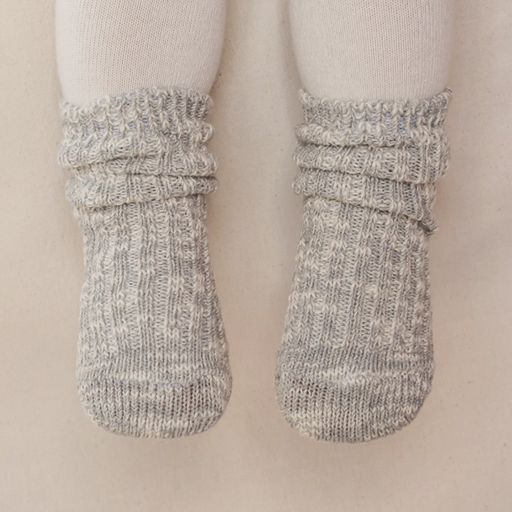 Cotton Heather Socks - Natural Gray