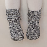 Cotton Heather Socks - Cozy Black