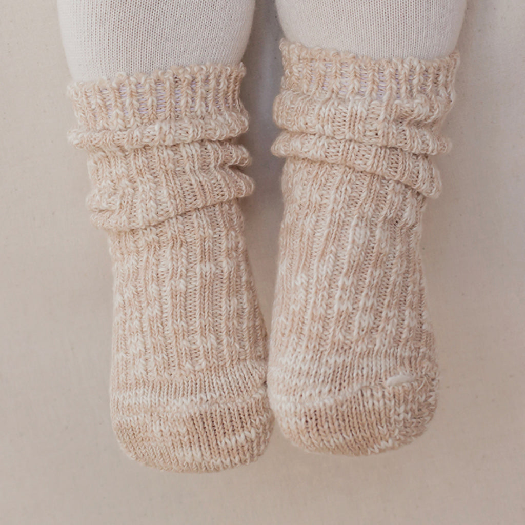 Cotton Heather Socks - Winter Beige