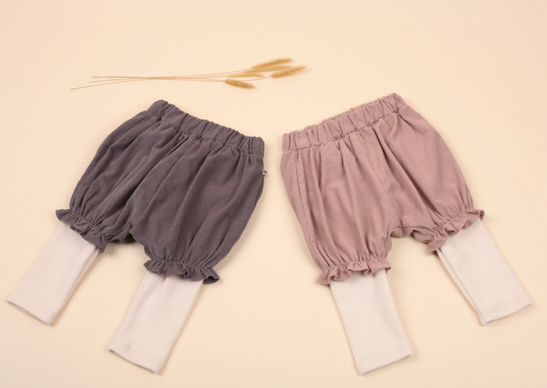 Muffin Bloomers + Leggings - Pink