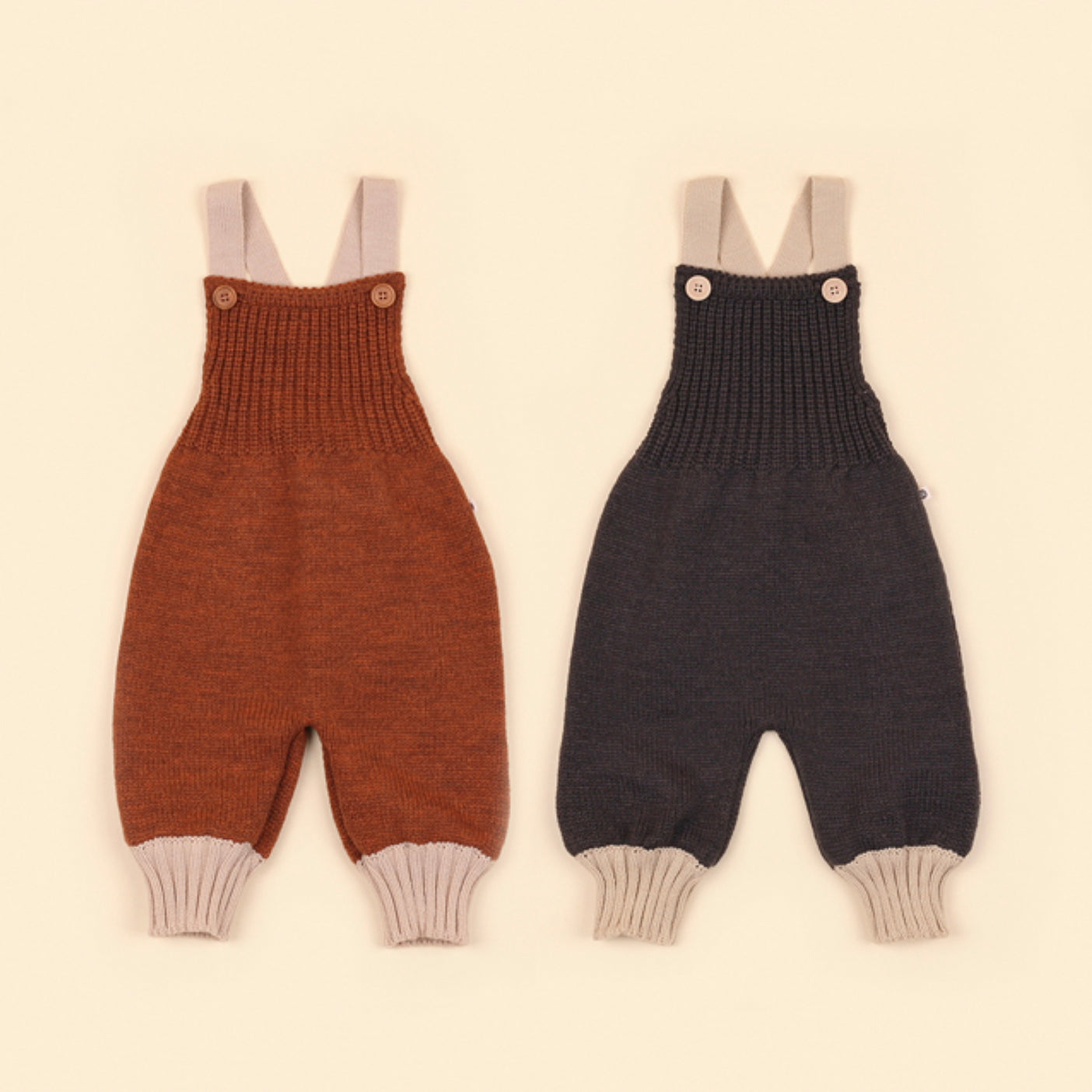 Chestnut Knit Romper - Charcoal