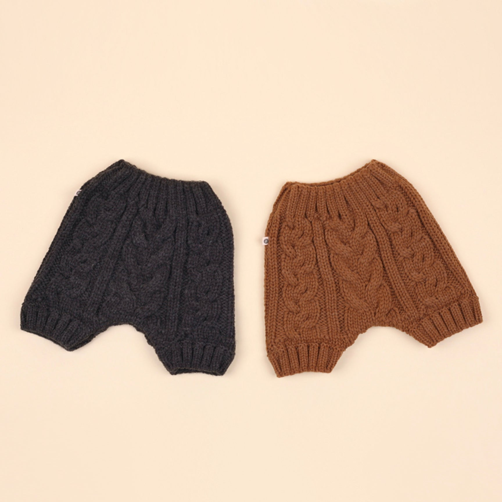 Cable Knit Shorts - Rust