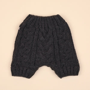 Cable Knit Shorts - Charcoal