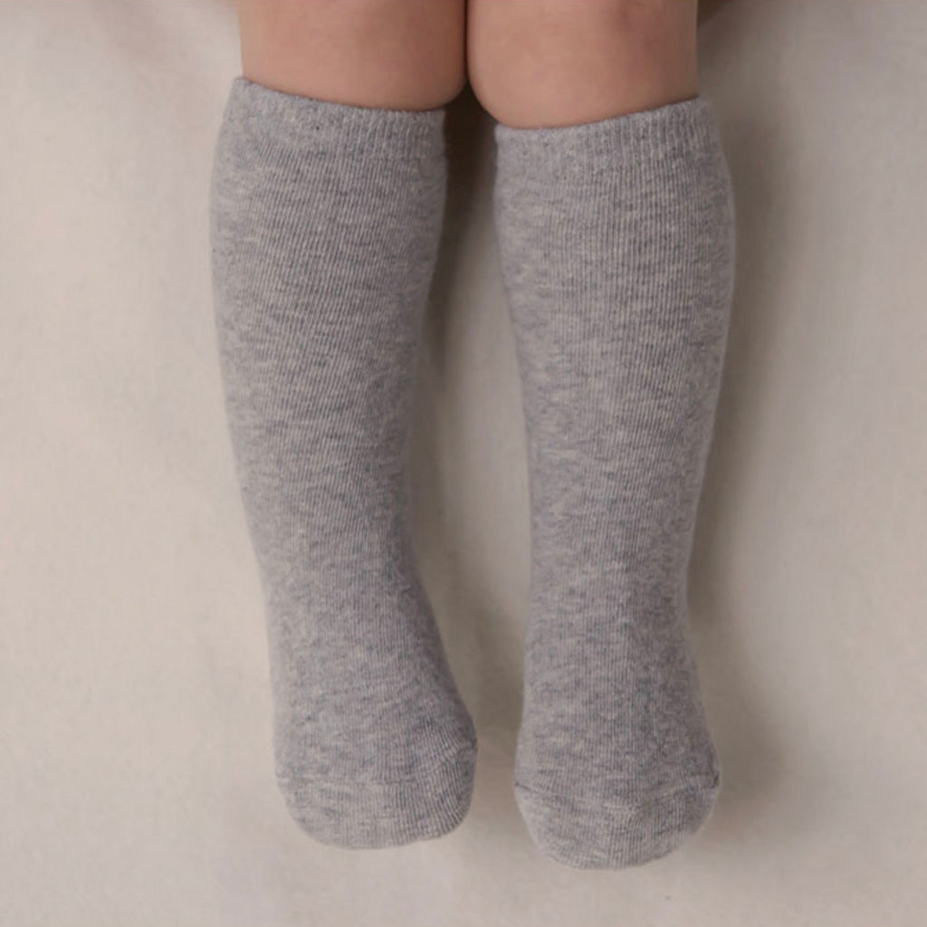 Basic Knee Socks - Grey