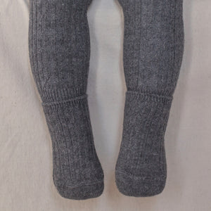 Premium Ribbed Leggings + Socks - Charcoal
