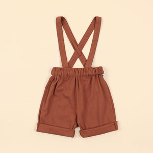 Sequoia Suspender Shorts - Rust