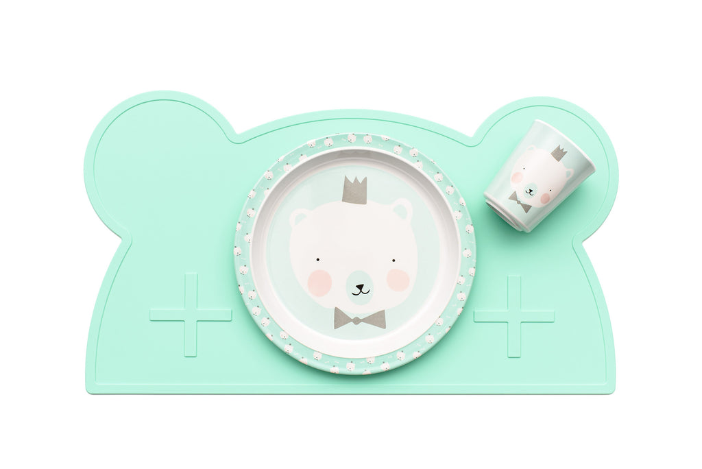 We Might Be Tiny - Bear Silicone Placie - Minty Green