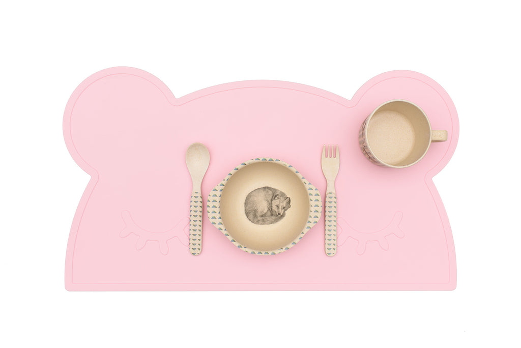We Might Be Tiny - Bear Silicone Placie - Powder Pink