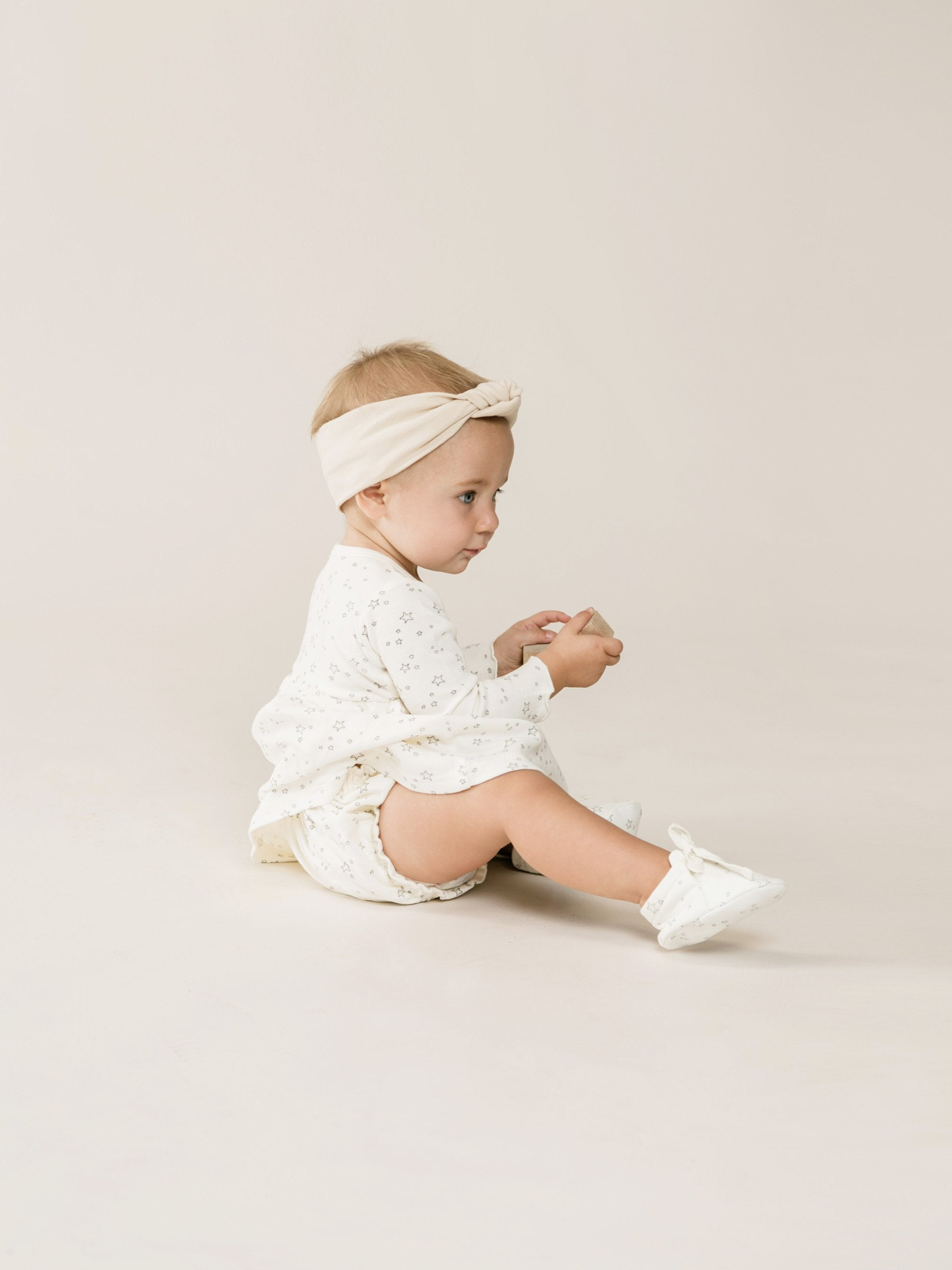 Quincy Mae - Baby Dress (Ivory Stars)