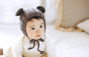 Folklore Bear Knit Bonnet
