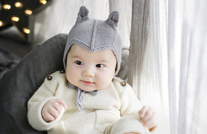 Chou Grey Knit Bonnet