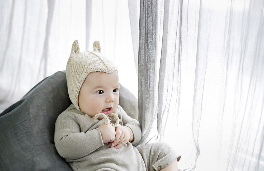 Chou Oatmeal Knit Bonnet
