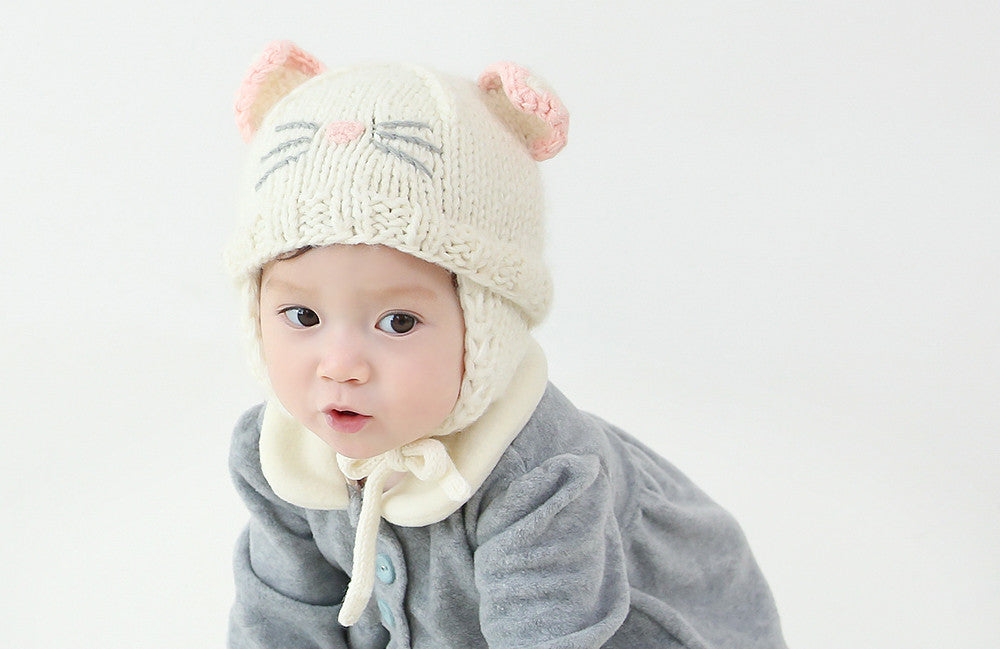 Kitty Milk Knit Hat