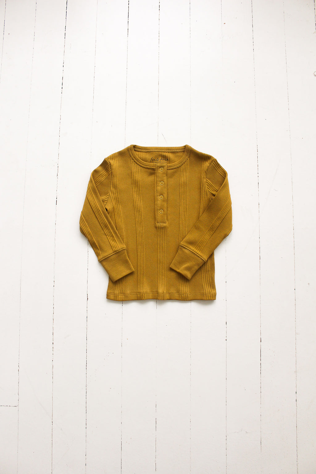 Fin and Vince - Long Sleeve Snap Top (Mustard)