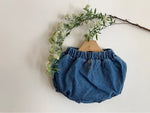 Button Denim Bloomers