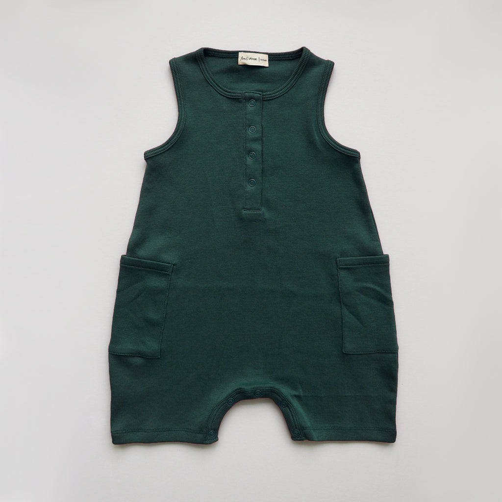 Fin and Vince - Short Jumpsuit (Forest)