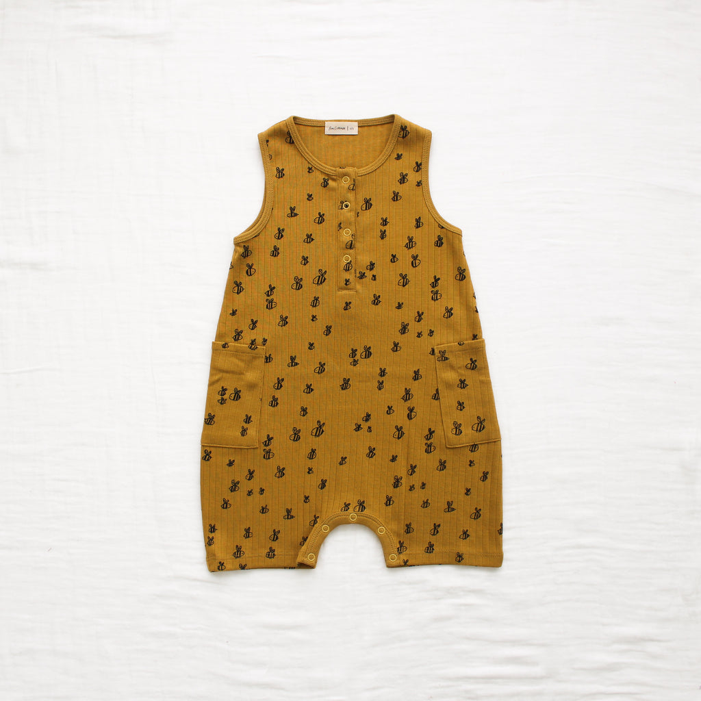 Fin and Vince - Bees Pocket Romper