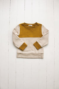 Fin and Vince - Colorblock Pullover (Mustard|Oatmeal) - Last 6/12