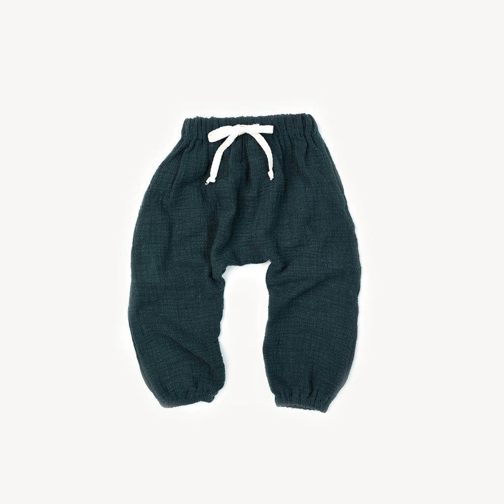 Fin and Vince - Cozy Pant (Forest Gauze) - Last 6/12
