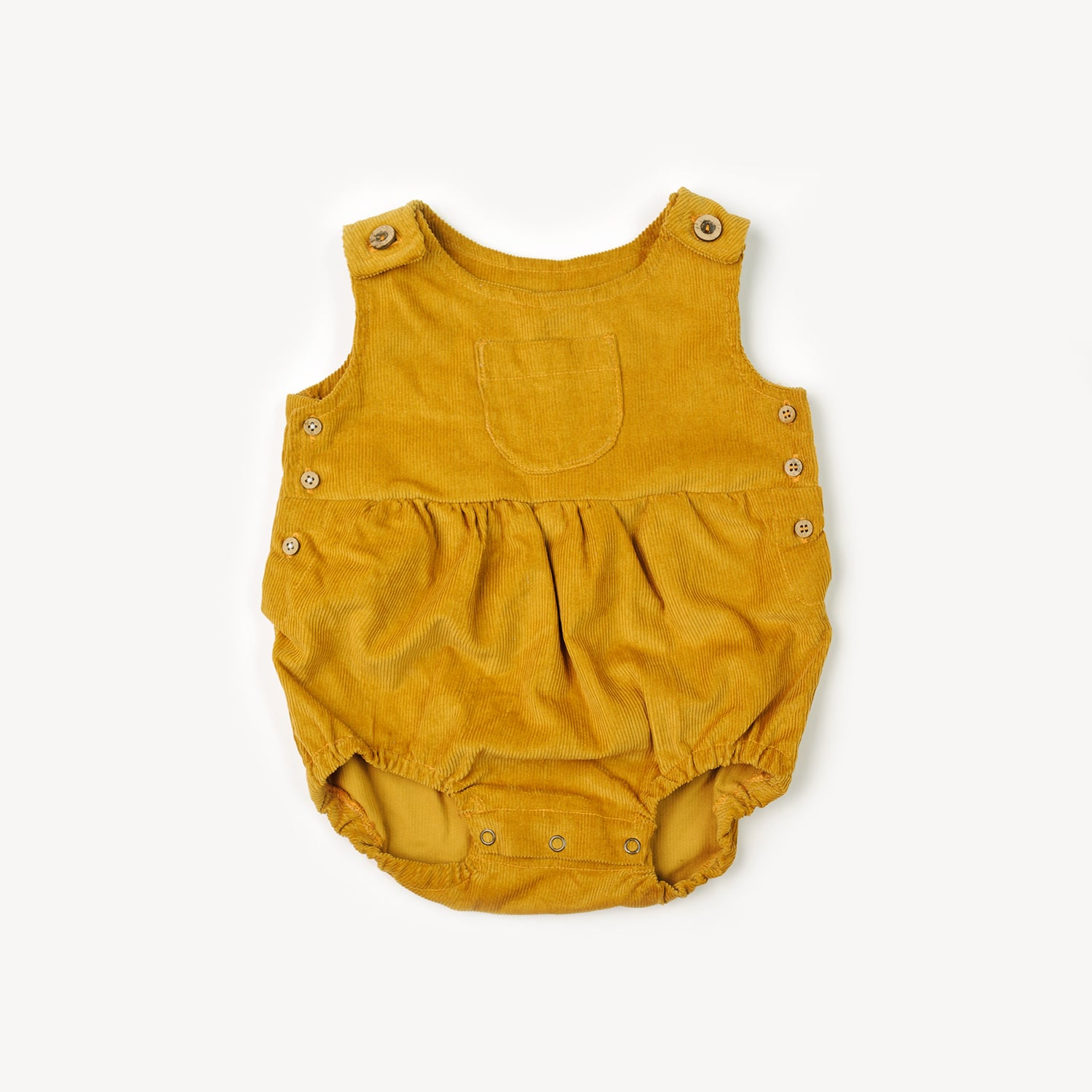 Fin and Vince - Corduroy Romper (Mustard)