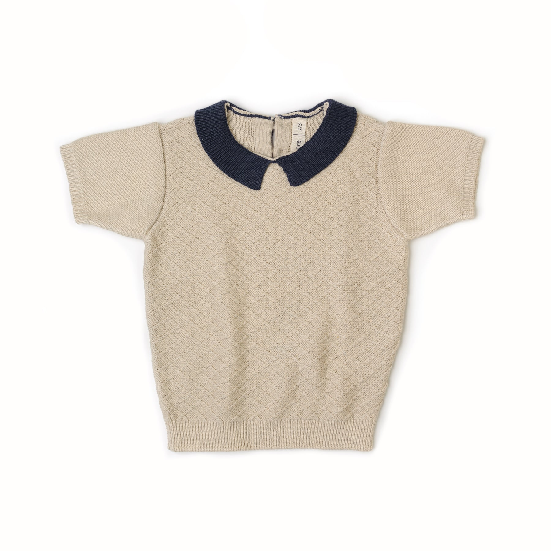 Fin and Vince - Knit Collar Top (Night Blue)