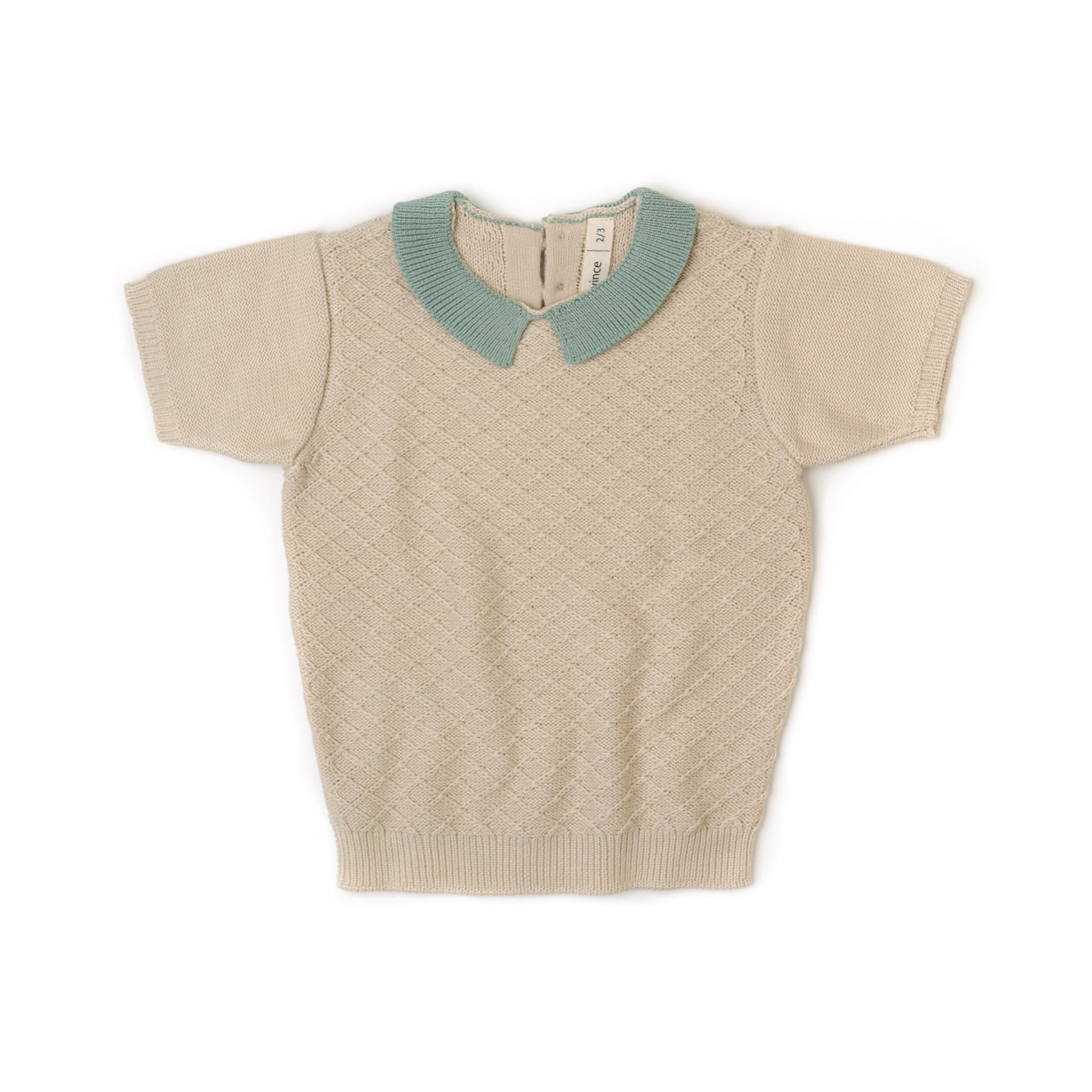 Fin and Vince - Knit Collar Top (Moss)