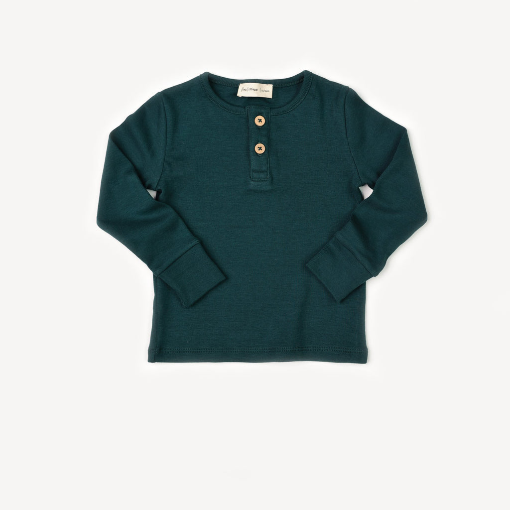 Fin and Vince - Henley Top (Forest)