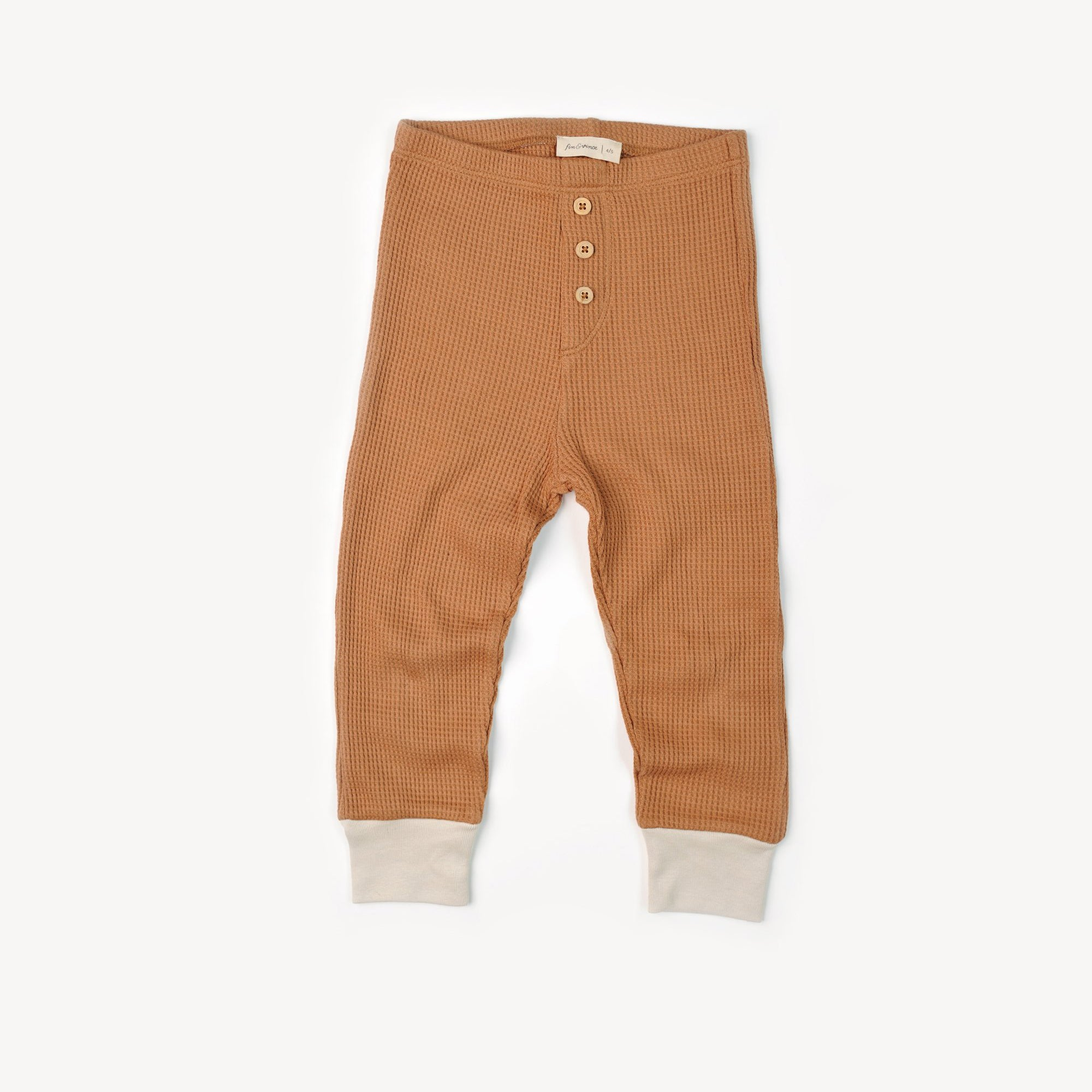 Fin and Vince - Button Pant (Waffle Camel) - Last 8/9