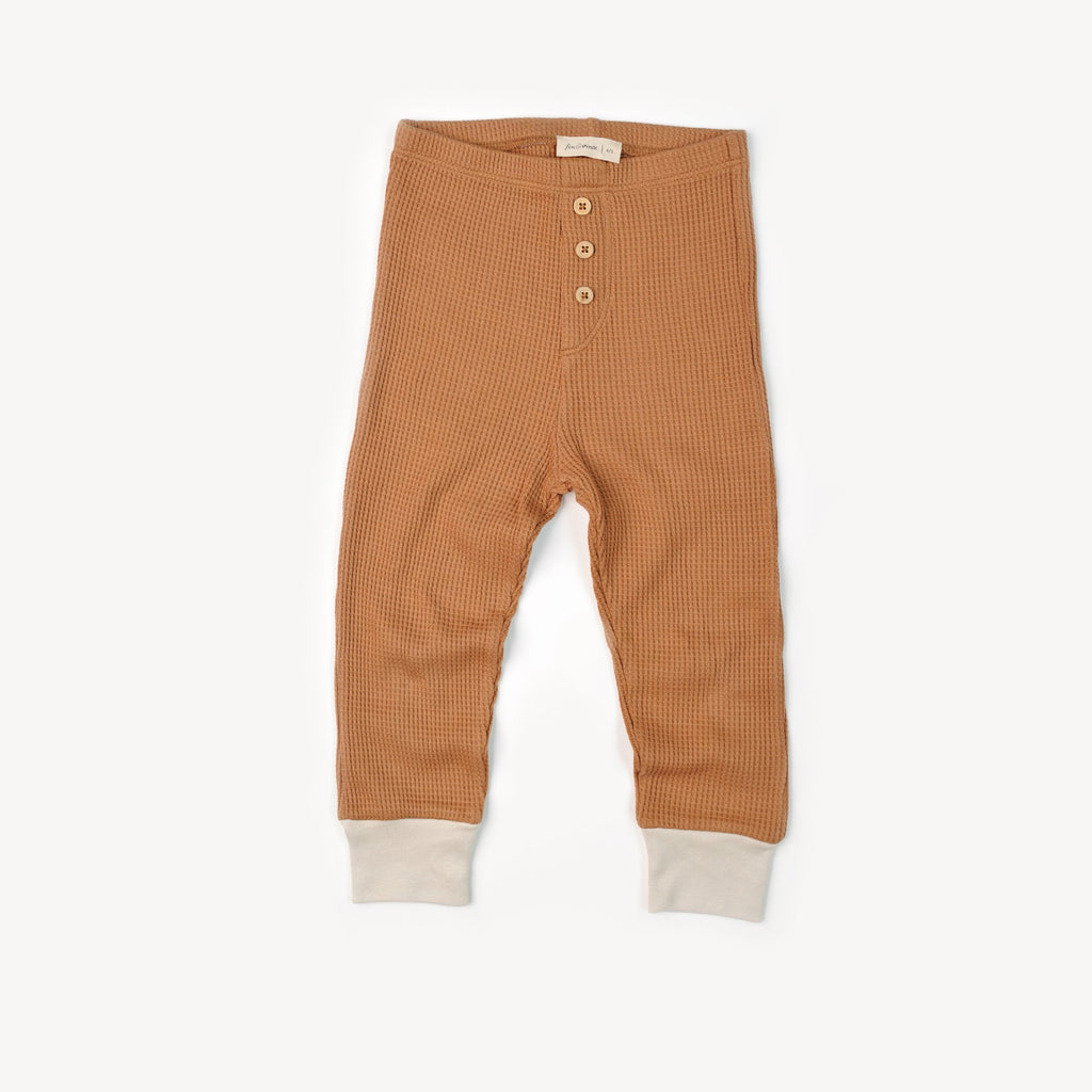 Fin and Vince - Button Pant (Waffle Camel)