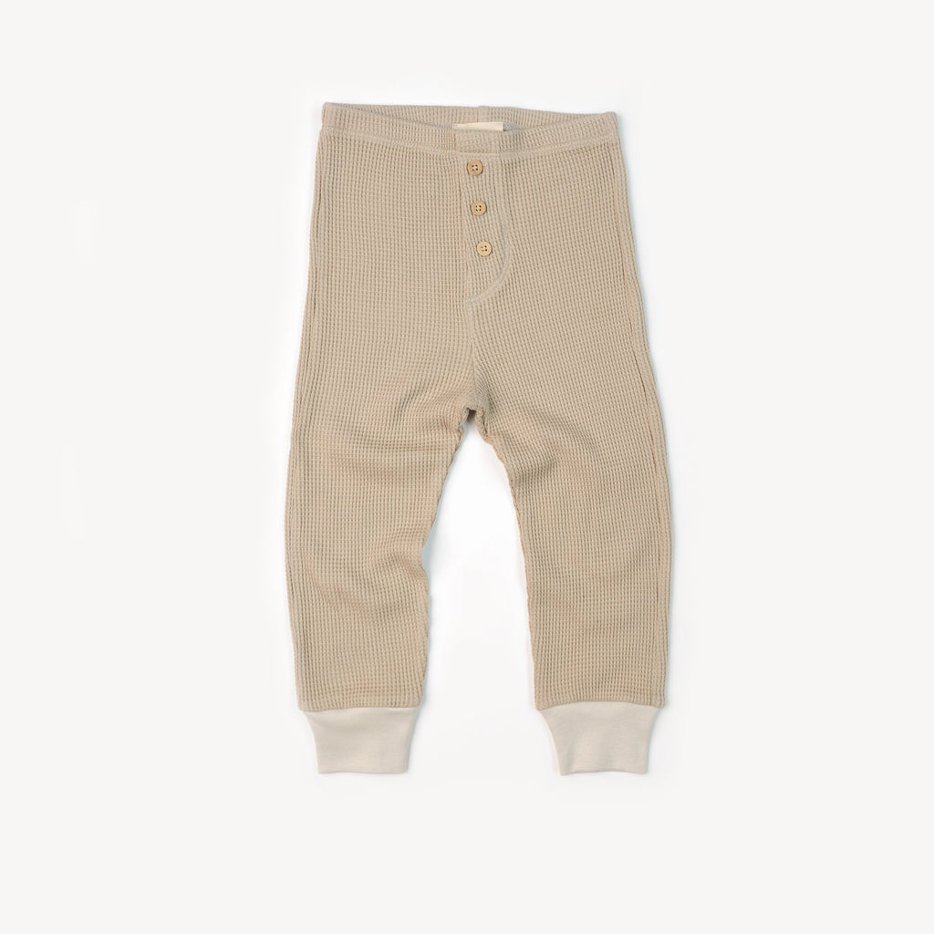 Fin and Vince - Button Pant (Waffle Almond)