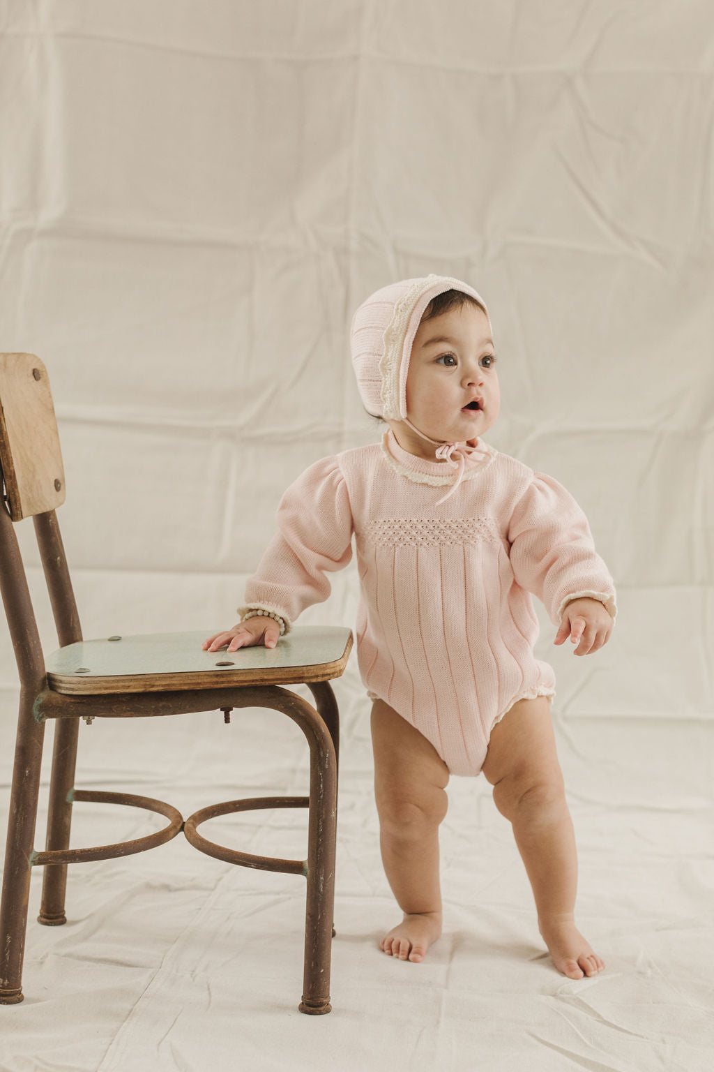 Fin and Vince - Adeline Romper (Blush)