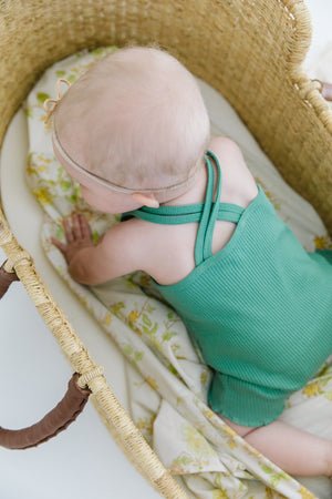 Fin and Vince - Double Strap Romper (Schoolhouse Green)