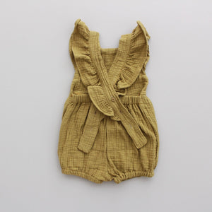 Fin and Vince - Ruffle Playsuit (Gauze - Mustard)