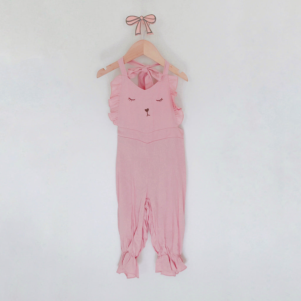 Coco Ribbon Jumpsuit - Pink