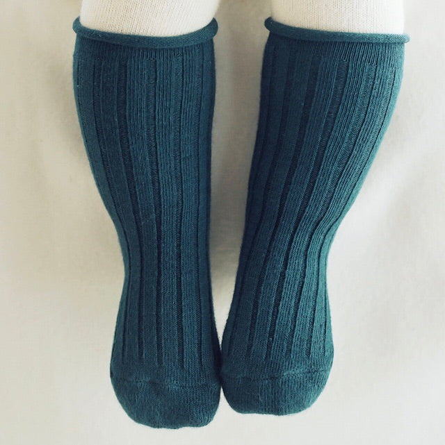 Spruce Rolling Knee Socks - Teal