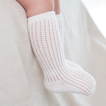 Angel Lace Socks - Snow