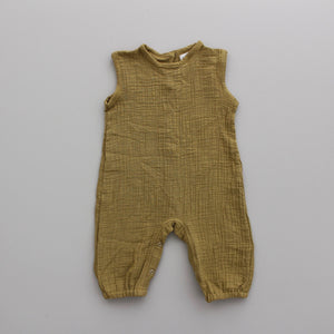 Fin and Vince - Tank Romper (Gauze - Mustard)