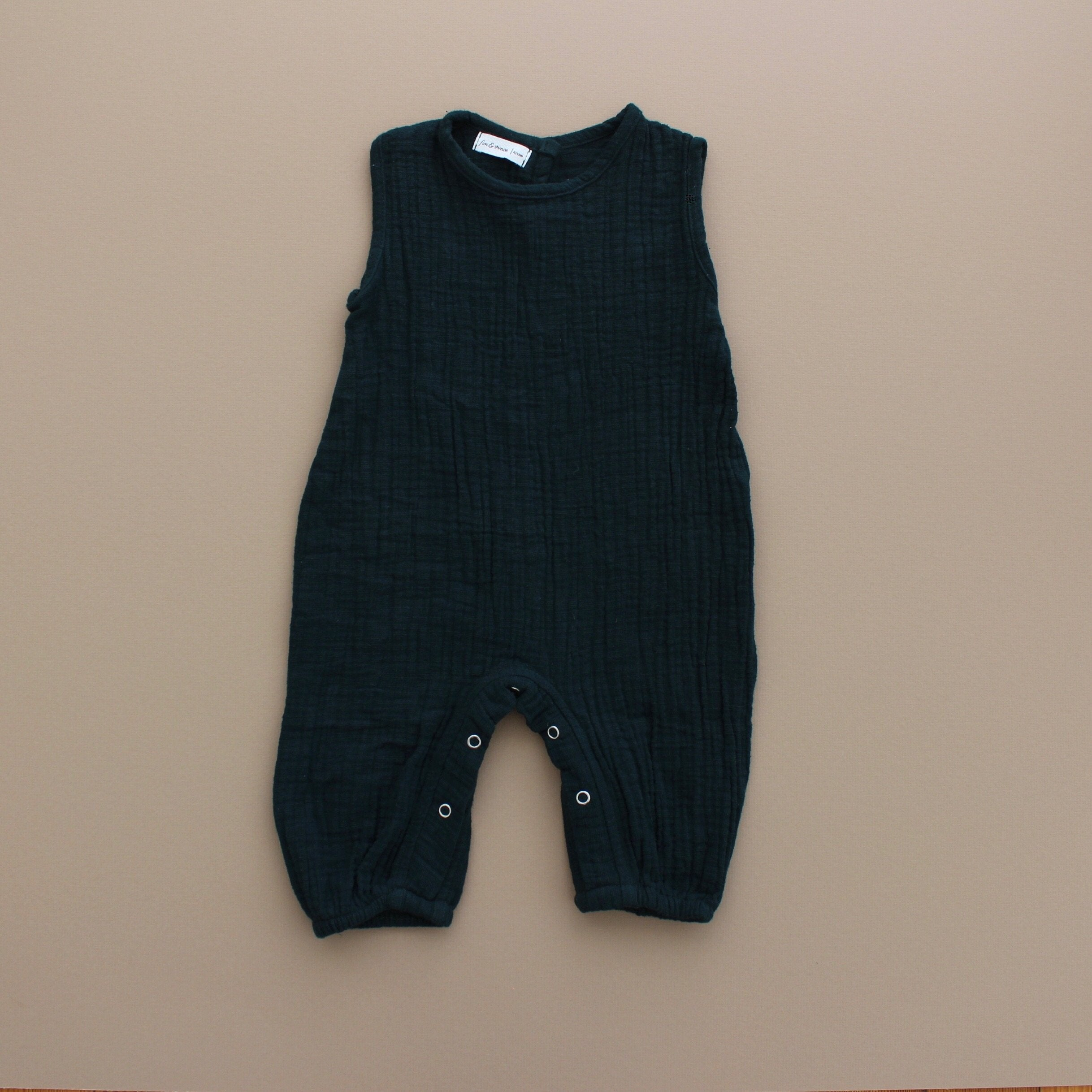 Fin and Vince - Tank Romper (Gauze - Forest) - Last 0/3