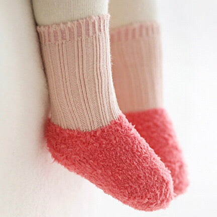 Colorblock Pink Socks