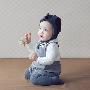 Bentley Herringbone Overalls - Dove