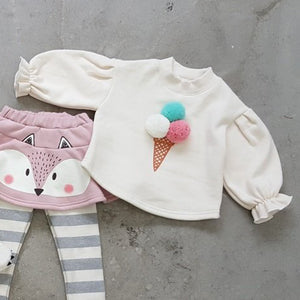 Ice-Cream Fuzzy Pullover