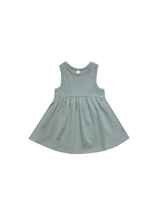 Quincy Mae - Ribbed Tank Dress (Sea)