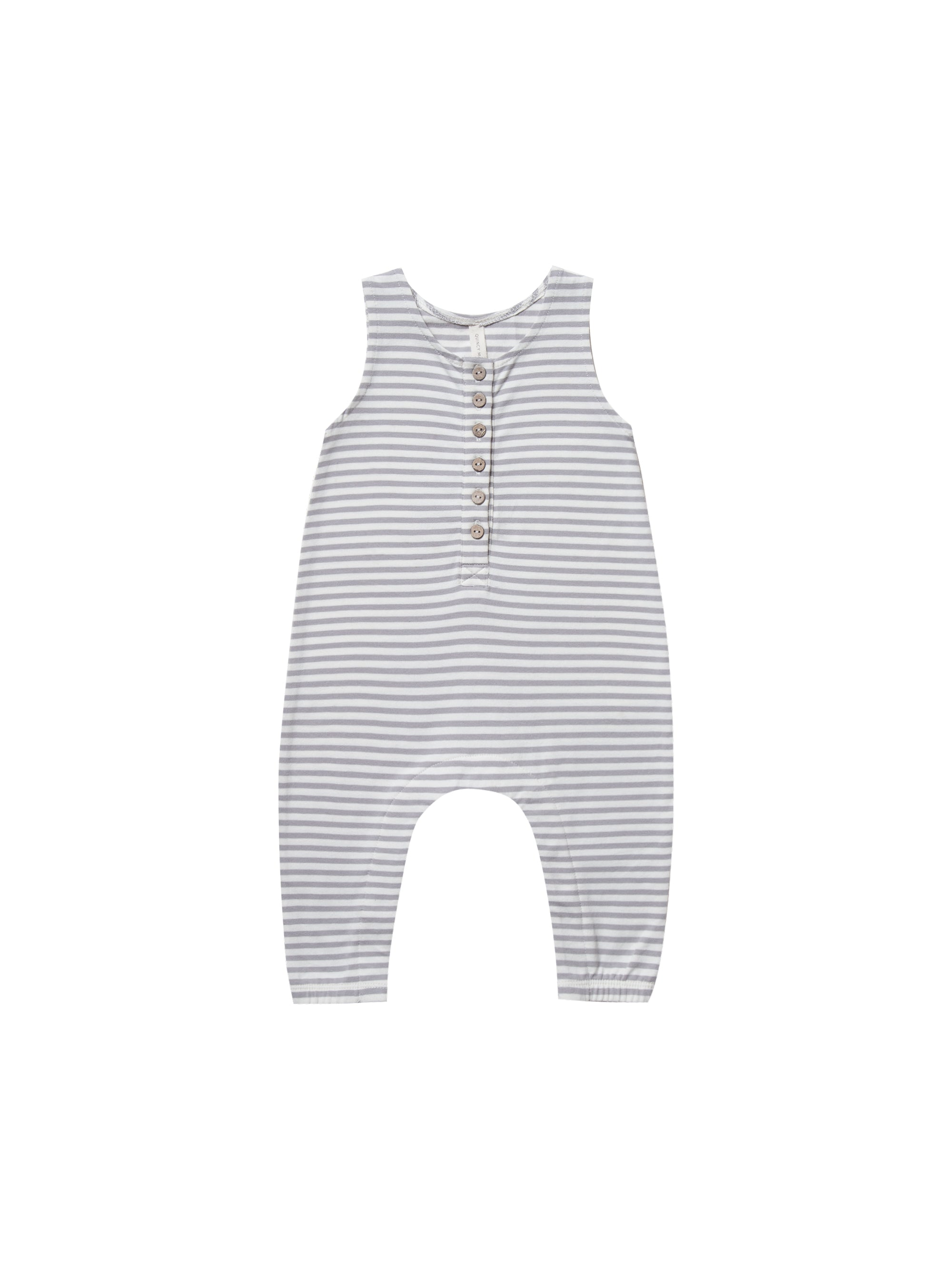 Quincy Mae - Sleeveless Jumpsuit (Grey Stripe)