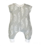 Nest - Grey Feathers Sleepsuit