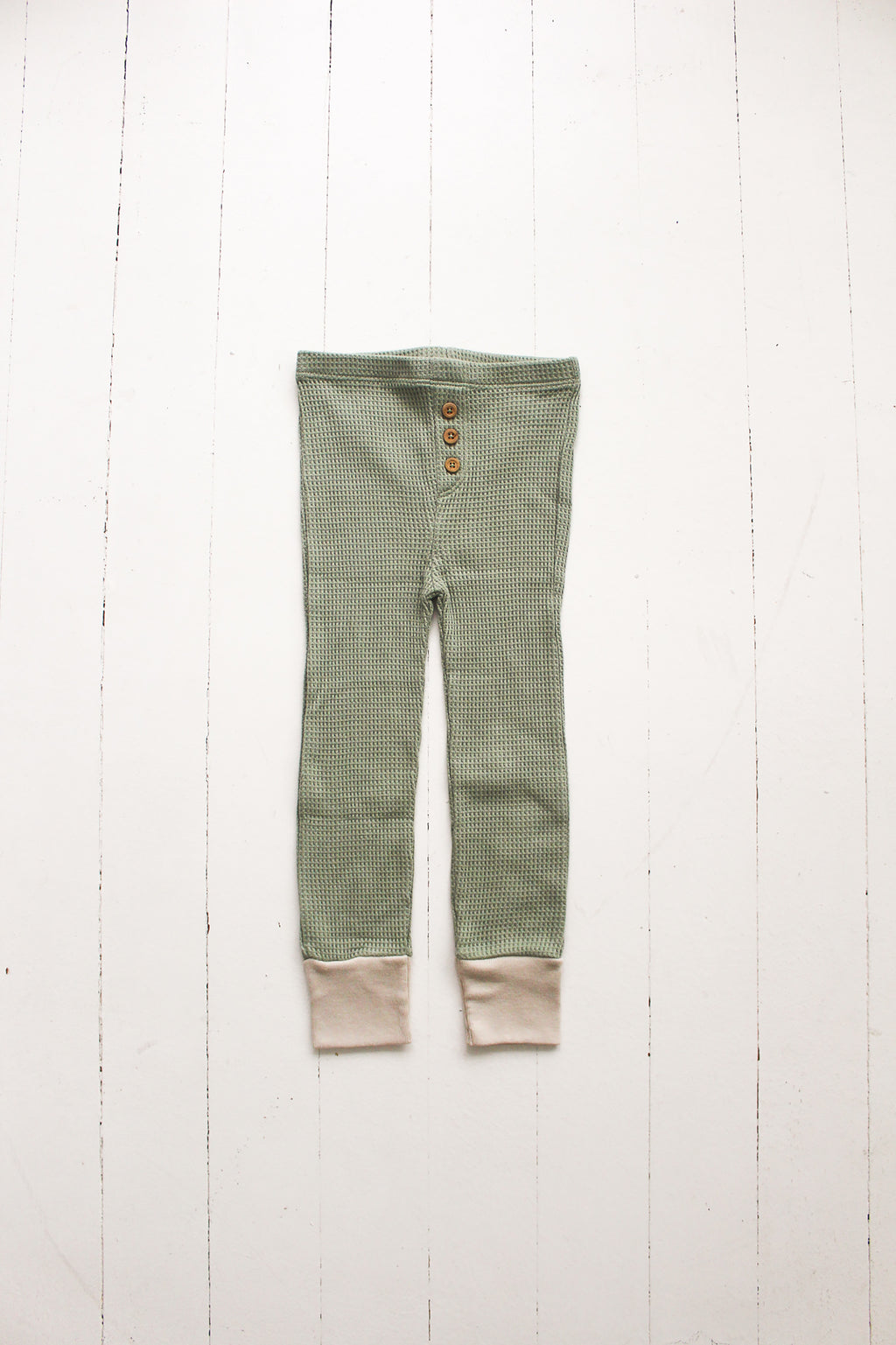 Fin and Vince - Button Pant (Waffle Sage)