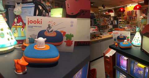 Jooki music player available in Librairie Filigranes, Brussels
