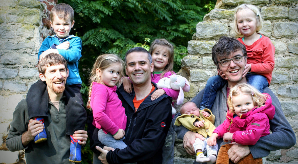 The Jooki family: Will, Theo, and Pieter with their kids.